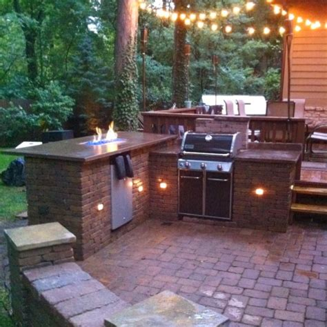 diy outdoor bar and grill station backyard