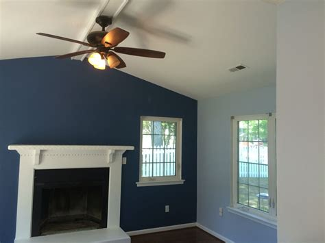 blue accent wall sherwin williams denim major league