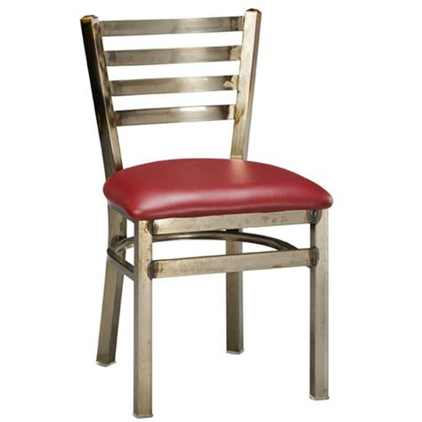 Steel Frame Dining Chairs Regal Seating 516 Steel Frame Dining Chair With Ladder Back