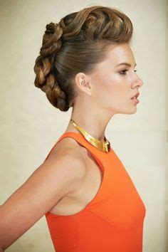 flo hawk hairstyles modern updo on pinterest red carpet updo redken hair