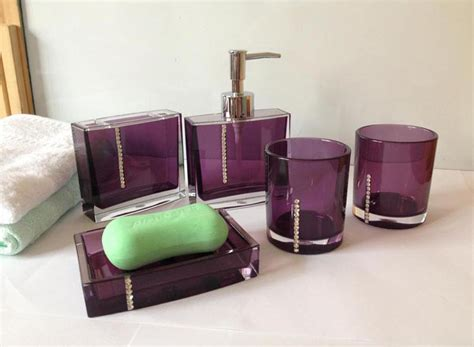 complete your bathroom with sweet purple bath accessories