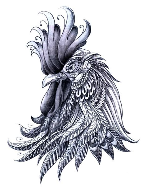 tribal rooster tattoo designs awesome rooster design