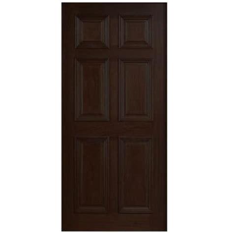 Six Panel Exterior Wood Doors by Door 36 In X 80 In Solid Mahogany Type 6 Panel