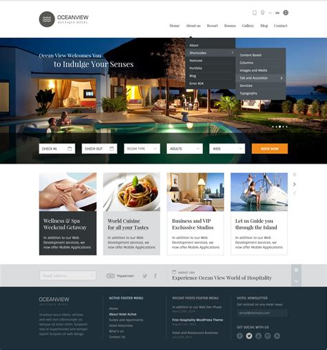 templates for resort website ocean view hotel website html template by basepixels