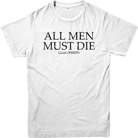 7 Must Shirts by Of Thrones T Shirt All Must Die T Shirt Valar