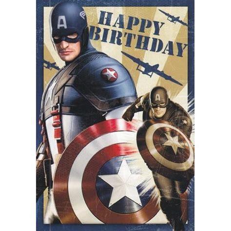 Captain America Birthday Card Amazon Com Greeting Card Birthday Captain America Quot Happy
