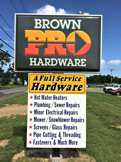 Brown Plumbing Supply by Brown Hardware Plumbing In Columbia Station Oh 44028