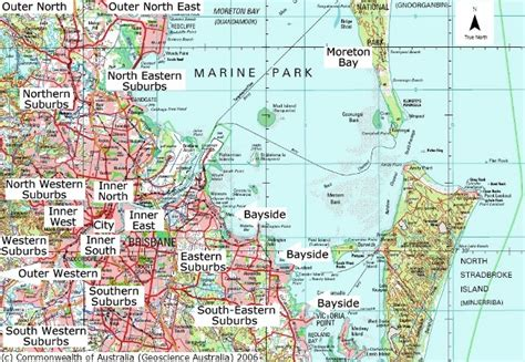 suburbs of map where to live in brisbane queensland australia