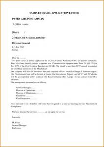 application letter for format pdf