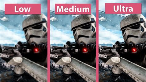 Pc Wars Battlefront wars battlefront pc low vs medium vs ultra
