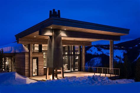 modern resort home design luxury ski residence in montana modern house designs