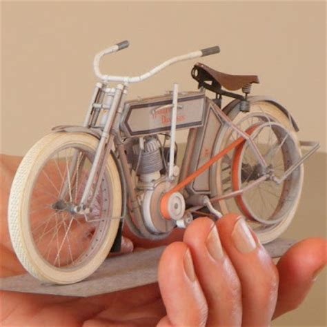 Papercraft Motorcycle - 1911 harley davidson motorcycle paper model