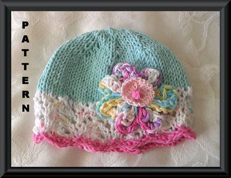knit kid hat pattern knitting pattern for a baby hat knitted children clothing