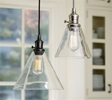 Pottery Barn Pendant Lights Pb Classic Pendant Flared Glass Pottery Barn