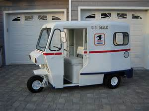 Wheels Us Mail Truck 3 Wheel Cushman Mail Truck Learn Me Westcoaster Mail