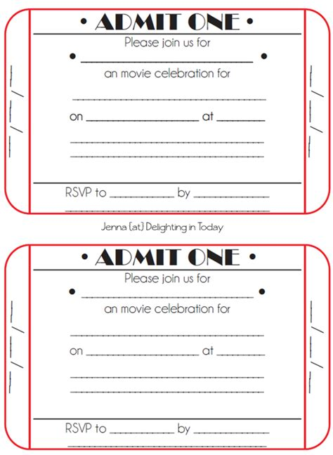 ticket invite template ticket birthday invitations ideas bagvania free