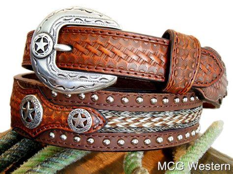 nocona western ranger studded mens leather belt