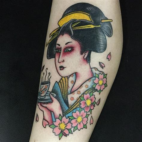 oriental geisha tattoo designs 70 colorful japanese geisha tattoos meanings and
