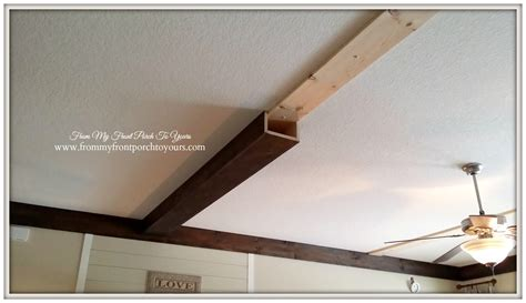 Diy Wood Beam Ceiling by From Front Porch To Yours How We Made Our Diy Wood Beams