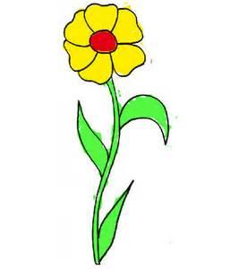 Fleur Simple Coloriage De Fleur Simple Sur Coloriage 1 Com