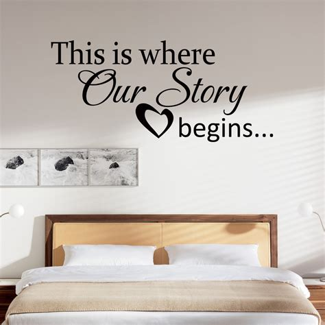 Happiness Home Bedroom Decor Vinyl Wall Quote This Is Where Our Story Begins Decal