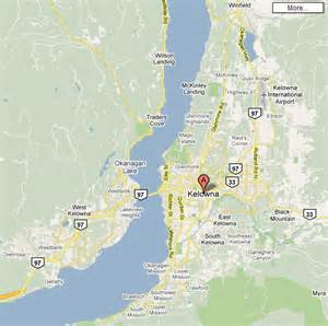 Kelowna Map Pet Stop Service Area for Kelowna and the Okanagan Lake