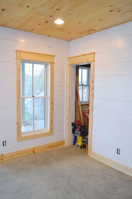 shiplap door trim diy shiplap walls and farmhouse trim newlywoodwards