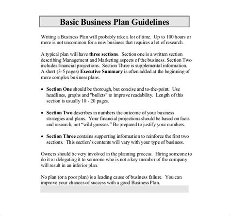 template for writing a business plan business template 39 free word pdf documents