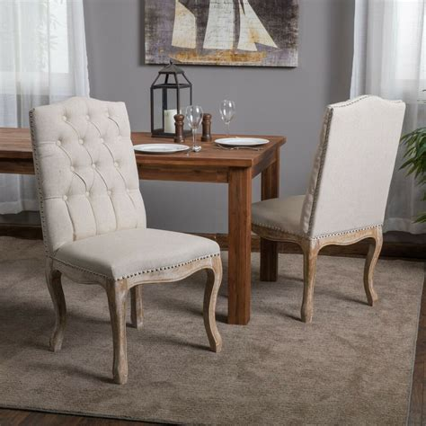 set   french vintage design weathered wood dining chair  nailhead accents ebay