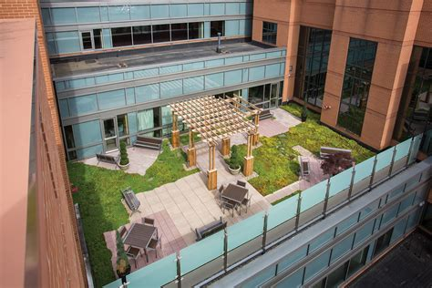 Rooftop Garden Indianapolis by Iu Health Hospital Roof Garden Msktd