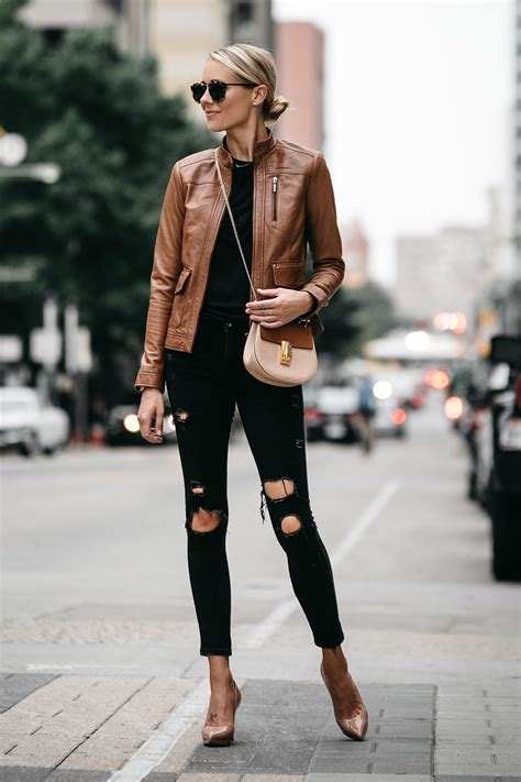 moto style jacket a chic way to wear a tan leather moto jacket fashion jackson