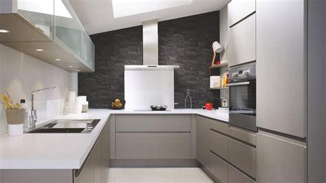 cuisine 233 quip 233 e moderne en u laque grise m 233 tal