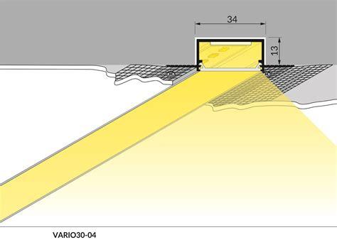 striscia led soffitto striscia a led per cartongesso elcart profili per led
