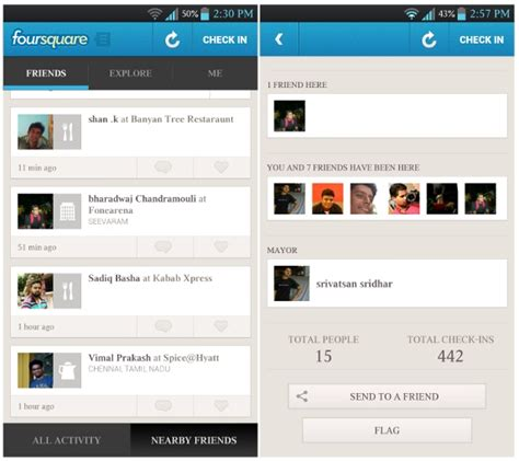foursquare for android updated sexytechy