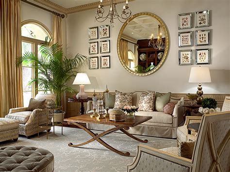 mirror decor in living room