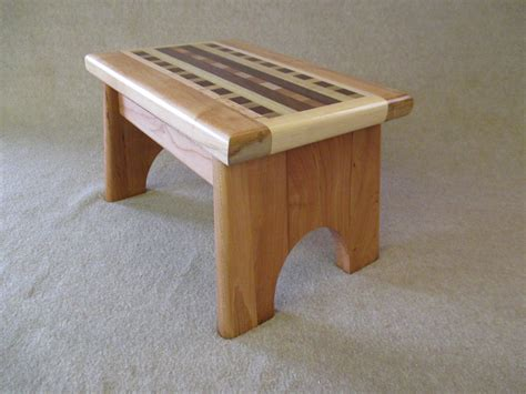 Small Wooden Step Stool by Handcrafted Solid Wood Step Stool
