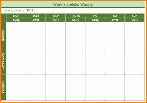 work calendar template 9 weekly work schedule template cashier resume