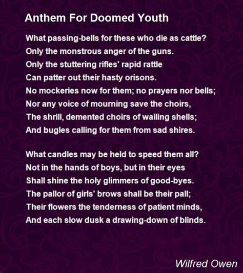 anthem for doomed youth anthem for doomed youth poem by wilfred owen poem hunter
