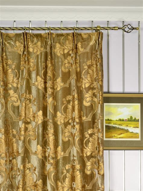 Damask Velvet Curtains Hebe Regal Floral Damask Versatile Pleat Velvet Curtains