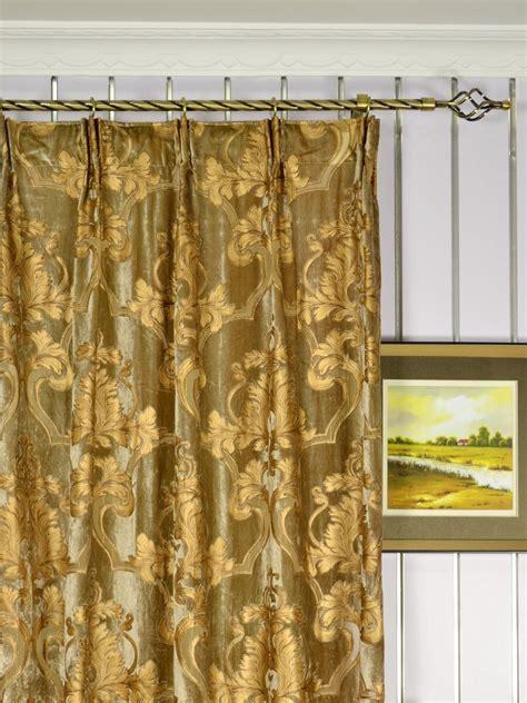 damask velvet curtains hebe regal floral damask versatile pleat velvet curtains