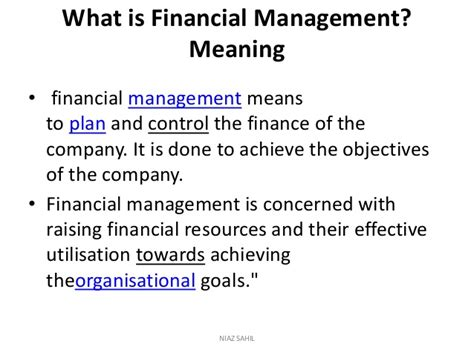 What Is The For Mba In Financial Planning by Financial Management Complete Note