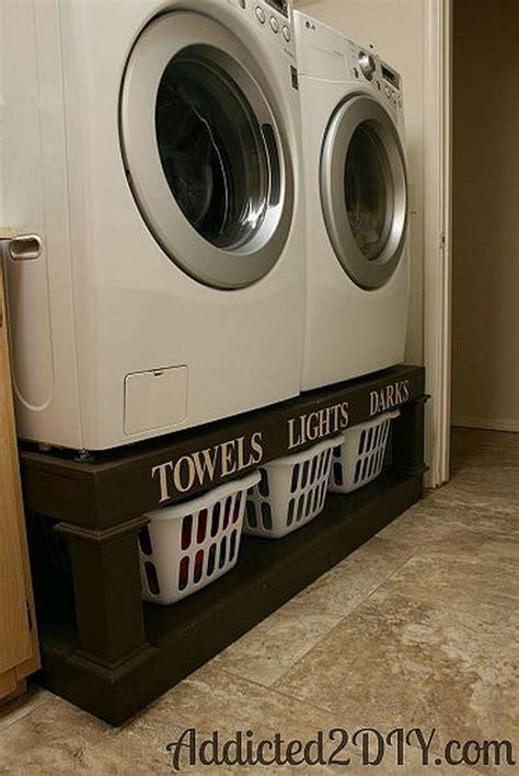 Washer And Dryer Pedestal Alternatives 50 Laundry Storage And Organization Ideas 2017
