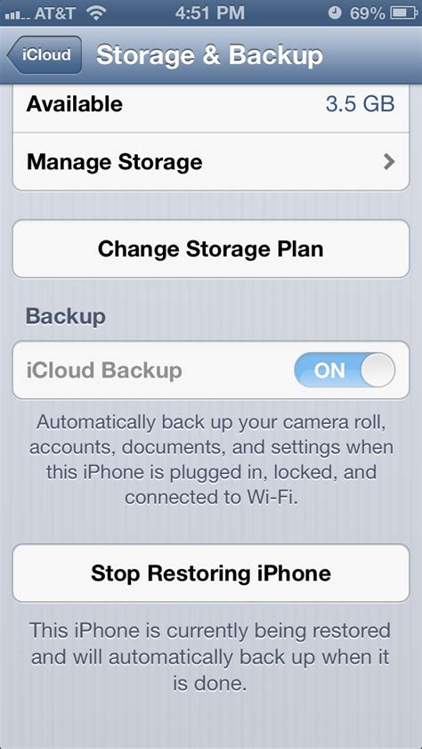Iphone Icloud Backup Icloud Iphone 5 Stuck On Quot Your Iphone Is Being Restored Quot Ask Different