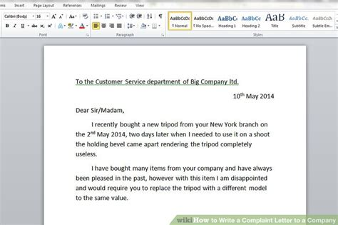 Complaint Letter From Distributor To Company how to write a complaint letter to a company with sle