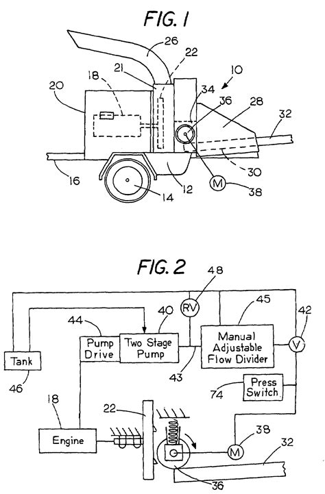 wood chipper diagram patent us7780102 feed roller drive for wood chipper