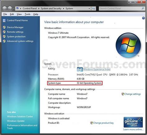 tutorial instal windows 7 32 bit system type 32 bit x86 or 64 bit x64 windows 7