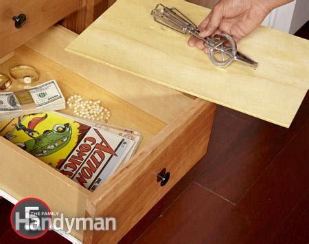 false bottom drawer 20 secret hiding places homestead security forums