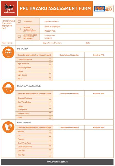 Catalogue Ppe Checklist Template