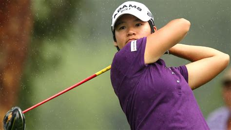 yani tseng swing yani tseng leads by two in rain interrupted second round