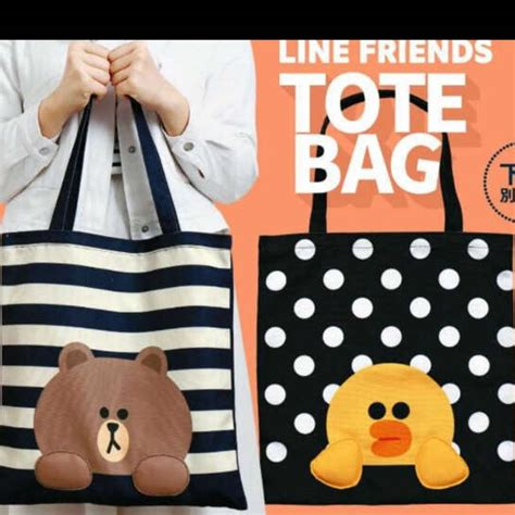hong kong limited line friend tote bag s fashion bags wallets on carousell